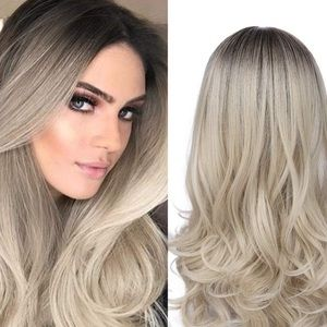 """NEW 28"""" Long Blonde Wig Breathable Mesh Cap"""